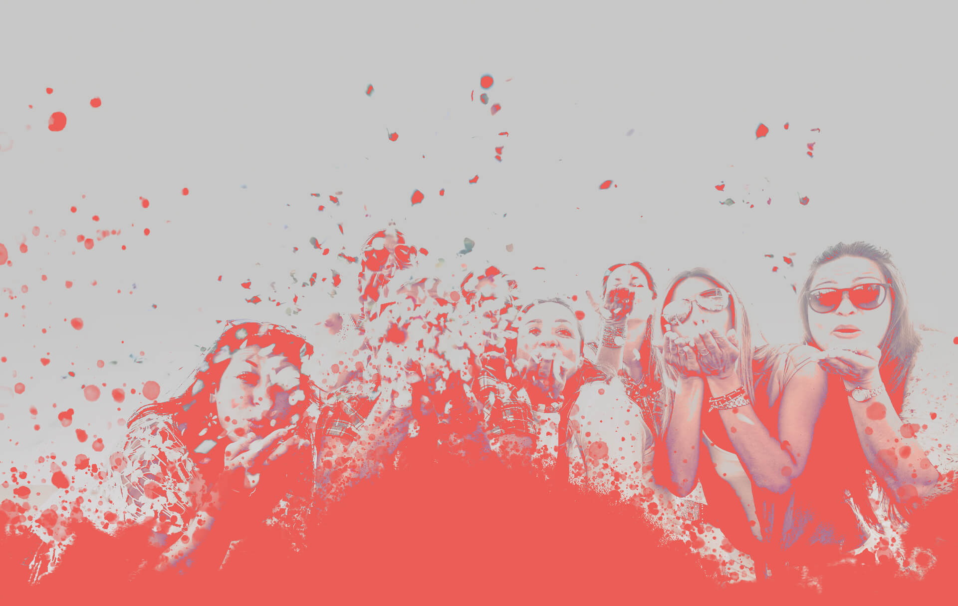 Hintergrundbild: eine Gruppe von glücklichen Leuten